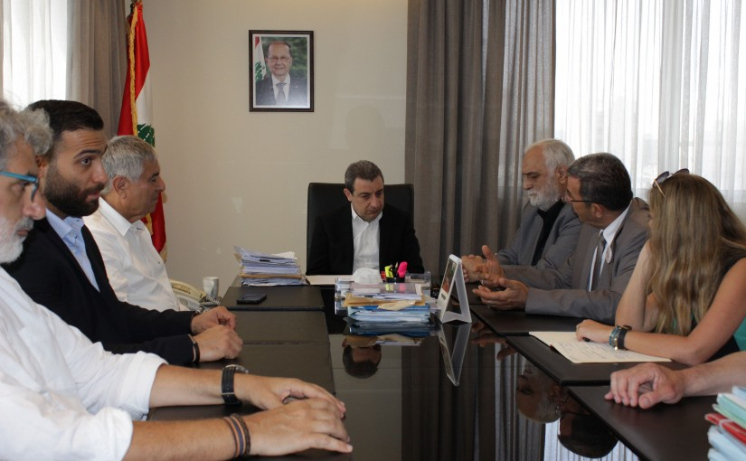 Minister Wael Abou Faour Meets a Delegation From The Furniture industry Syndicate
