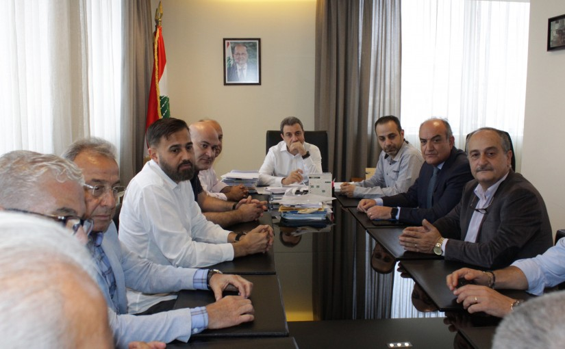 Minister Wael Abou Faour Meets a Delegation From Shoes Industry Syndicate