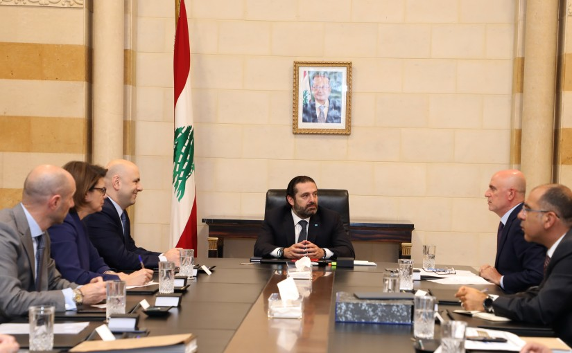 Pr Minister Saad Hariri Heading a  committee charged with studying the outline plan for quarries and quarries