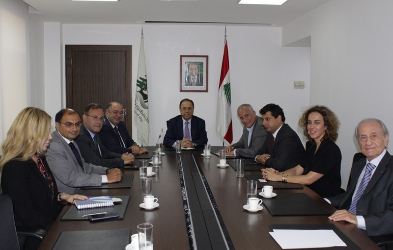 Minister Mansour Btiech meets Mr Fouad Rahmeh with a Delegation