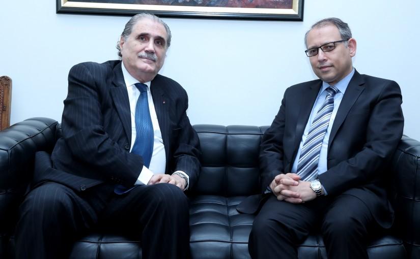 Minister Selim Jreysati Meets Egytian Ambassador