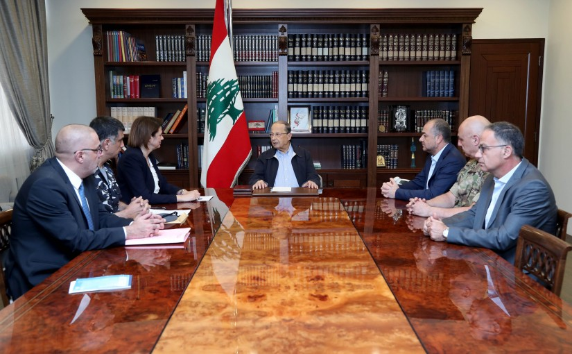 President Michel Aoun meets interior and defense ministers, the army commander, the Director General of the Internal Security Forces, the Director of Intelligence and the Head of Information Branch of the Security Forces.