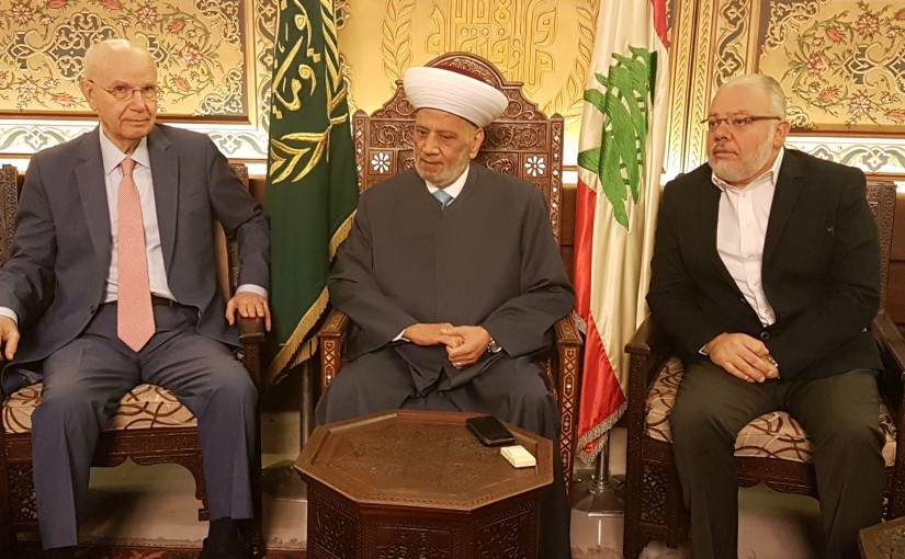 Grand Mufti Abdel Latif Derian Meets MP Abdel Rahim Mrad