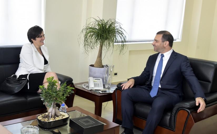 Minister Adel Afyouni Meets Canadian Ambassador