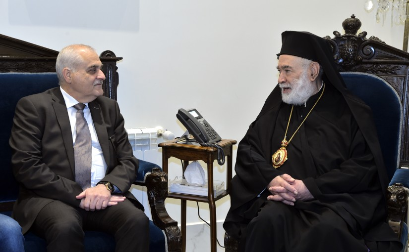 Minister Jamil Jabak meets Bishop Elias Audi
