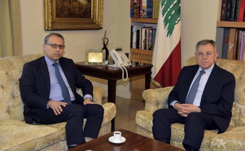 Former Pr Minister Fouad Siniora meets Egyptian Ambassador
