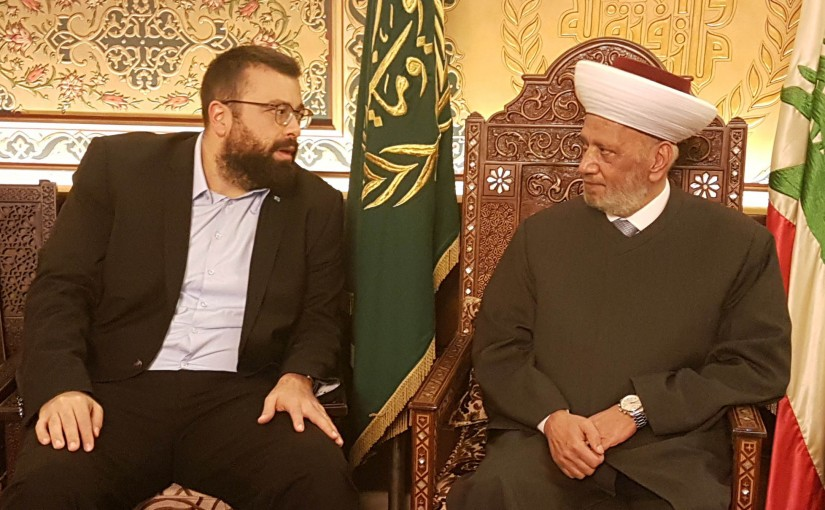 Grand Mufti Abdel Latif Derian Meets Mr Ahmad Hariri