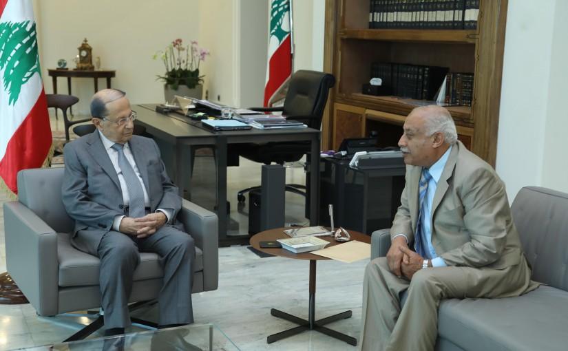 President Michel Aoun Meets Mr Ahmad Mohamad El Kheir