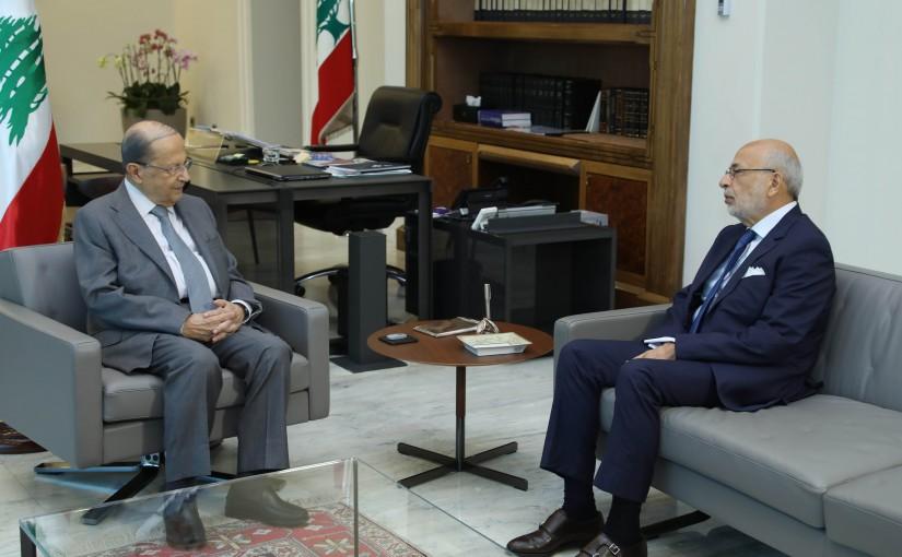 President Michel Aoun Meets Minister Akram Chehayeb