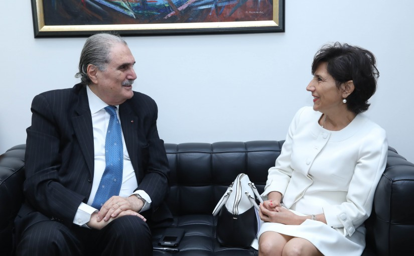 Minister Selim Jreysati Meets Permanent Representative of Lebanon to the United Nations Ambassador Dr. Amal Mudallali
