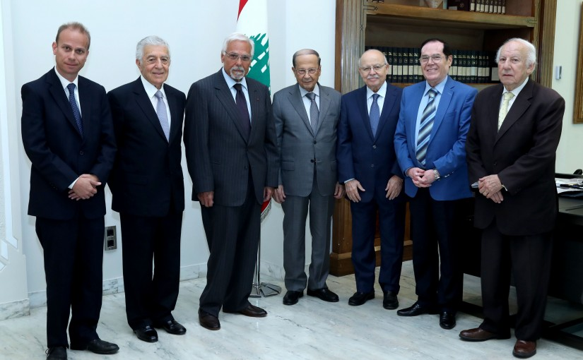 President Michel Aoun Meets Mr Khaled Daouk with a Delegation
