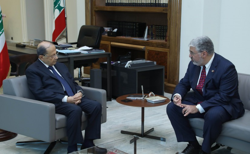 President Michel Aoun Meets a Delegation From AUB University