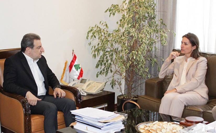 Minister Wael Abou Faour Meets European Ambassador
