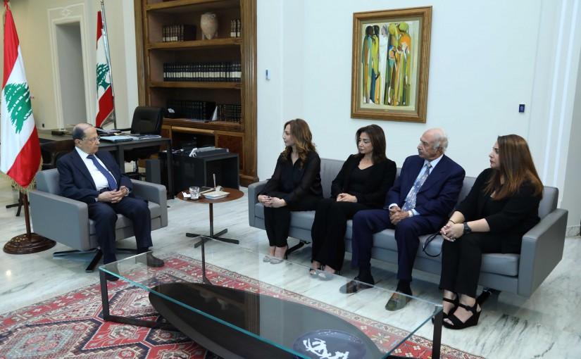 President Michel Aoun Meets The Family of The Late Major General Sami Khatib