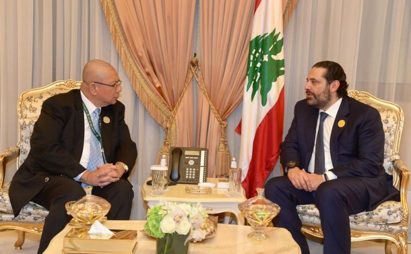 Pr Minister Saad Hariri meets Malaysia Minister of Foreign Affairs
