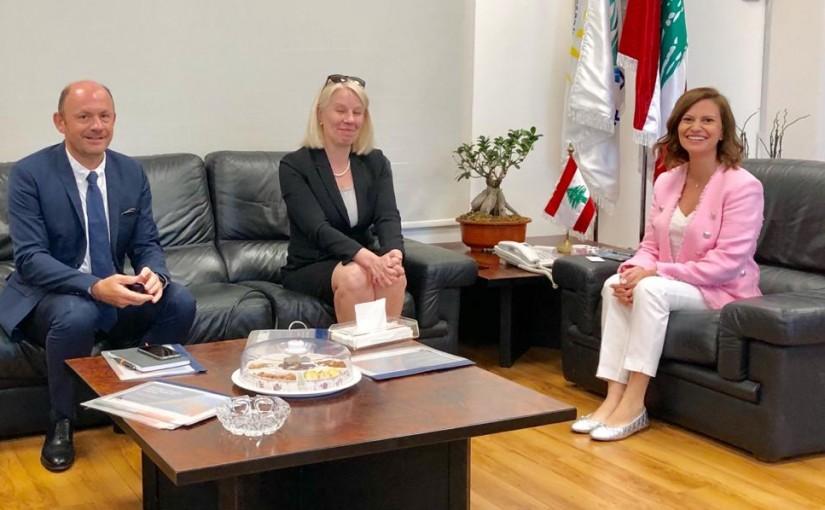 Minister Nada Boustani meets Poland Ambassador