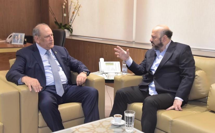 Minister Jamal Jarrah meets Former Minister Melhem Riachi