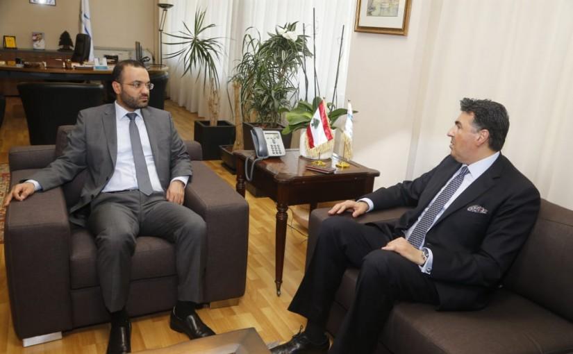 Minister Mouhamad Daoud Daoud meets Ambassador Jhonny Ibrahim