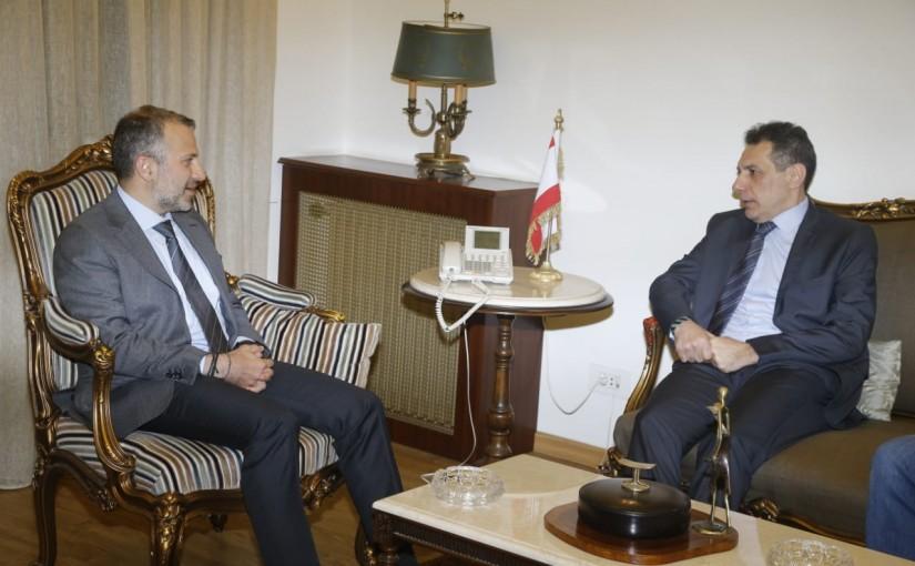 Minister Gebran Bassil meets Mr Nizar Zaka