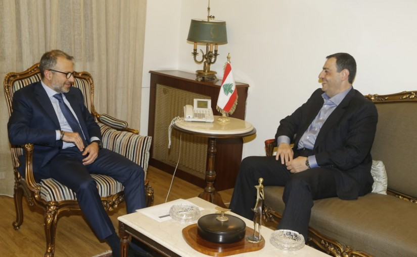 Minister Gebran Bassil meets Mr Akram el Halabi