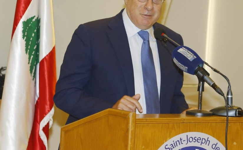 Workshop for Minister Kamil Abou Sleiman at USJ University