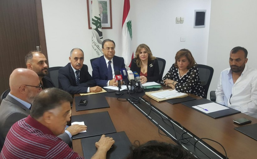 Press Conference for Minister Mansour Bteich