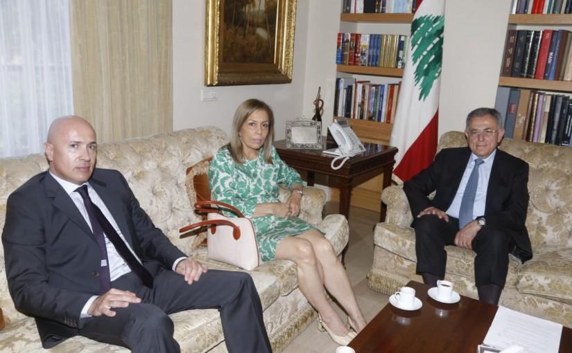 Former Pr Minister Fouad Siniora meets Chilie Ambassador
