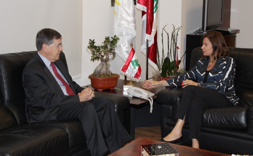 Minister Nada Boustani meets Mr David Saterfield