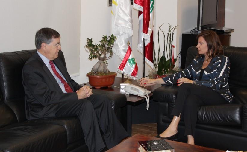 Minister Nada Boustani meets Mr David Saterfield