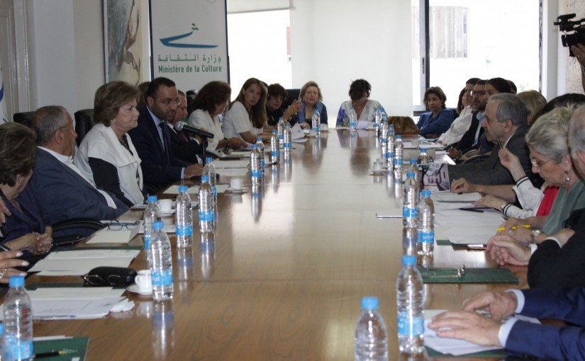 Minister Mouhamad Daoud Daoud meets Mrs Mona Hraoui with a Delegation