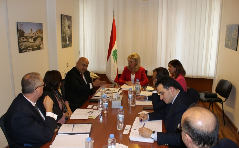 Minister May Chidiac meets a Delegation from World Bank