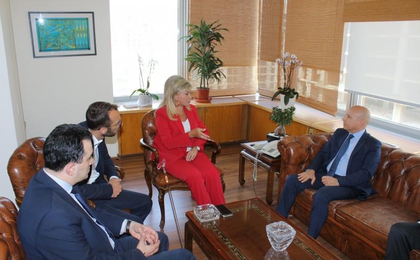 Minister May Chidiac meets Italian Ambassador