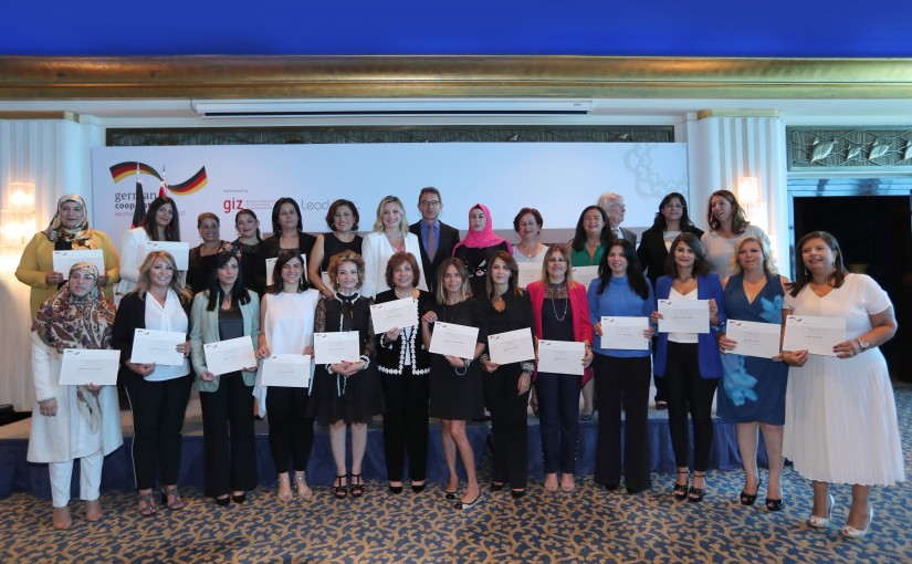 Mrs Claudine Aoun Attends The Closing Ceremony of The LEAD Mentoring Project at Royal Dbayeh Hotel