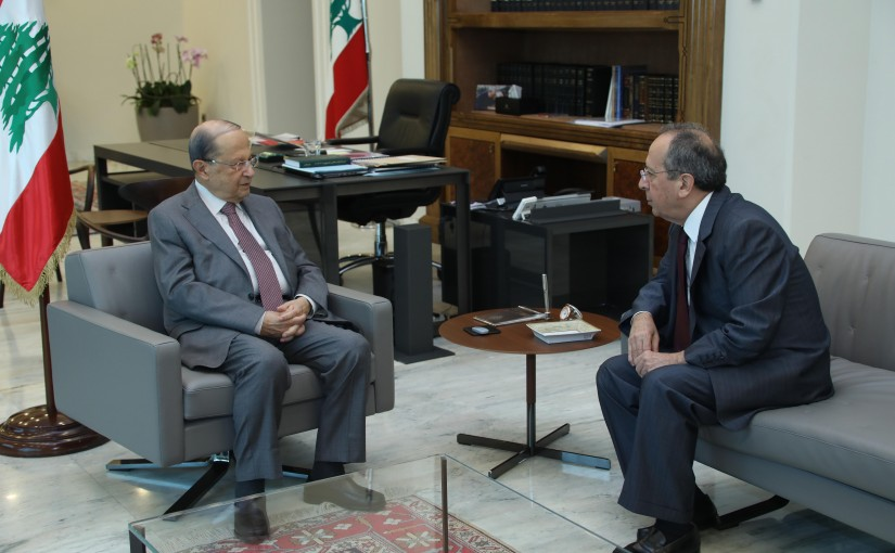 President Michel Aoun Meets MP Jamil Sayed