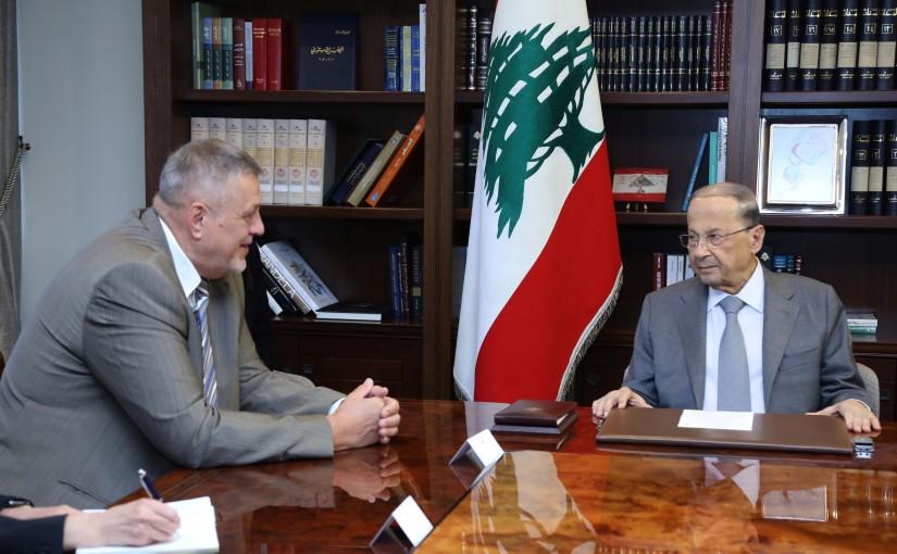 President Michel Aoun Meets UN Special Coordinator for Lebanon Jan Kubis