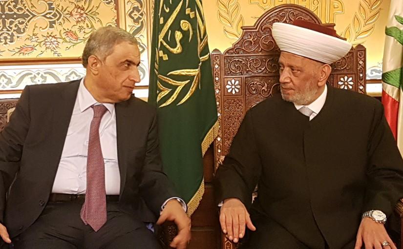 Grand Mufti Abdel Latif Derian Meets MP Kasem Hachem