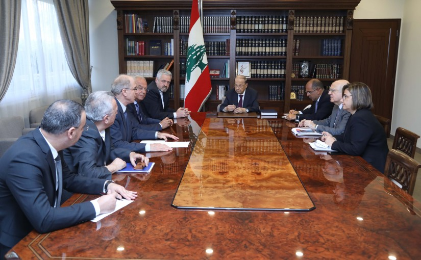 President Michel Aoun Meets a Delegation From LABORA Association Headed By Father Toni Khadra