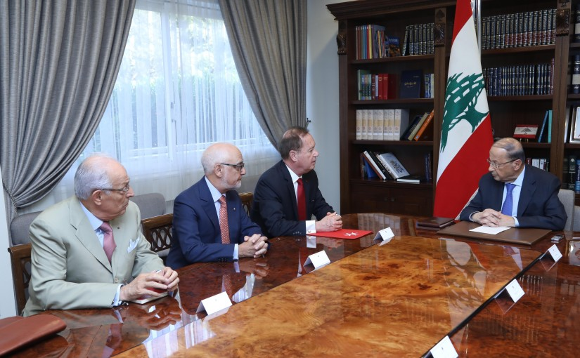 President Michel Aoun Meets Ambassador of The Order of Malta Bertrand Bescancenot