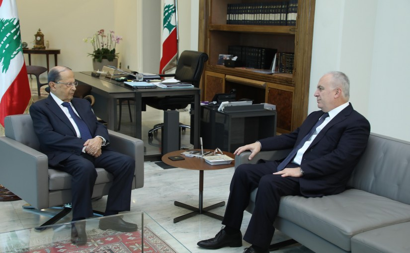 President Michel Aoun Meets MP Michel Daher