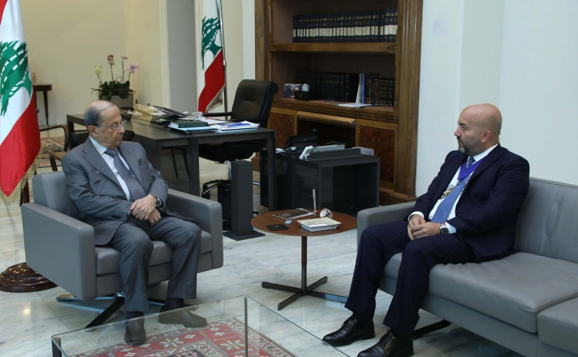 President Michel Aoun Meets Mr Walid Moussa World President for the International Real Estate Federation