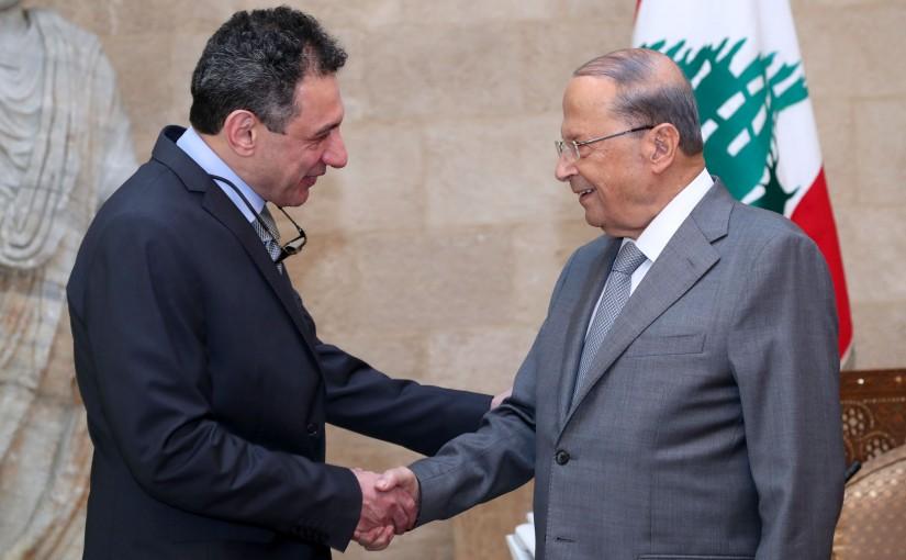 President Michel Aoun Meets Mr Nizzar Zakka