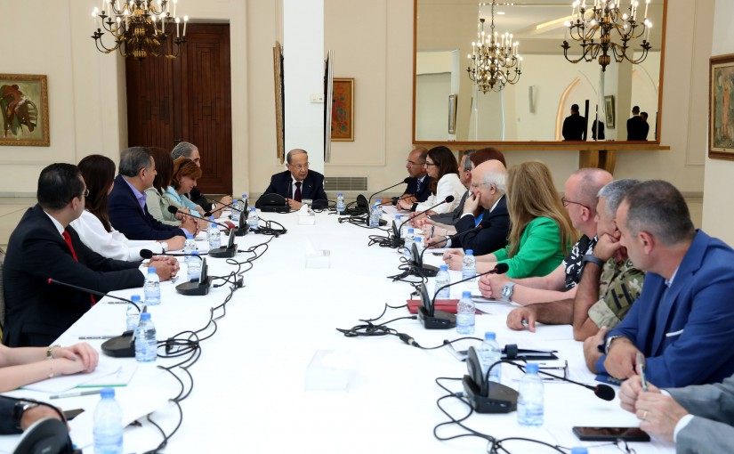 President Michel Aoun Heading The Preparative Committee For The 100th Anniversary of The Greater Lebanon