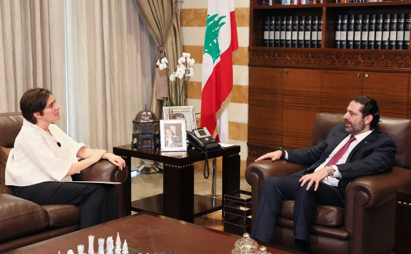 Pr Minister Saad Hariri meets Canadian Ambassador