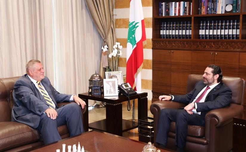Pr Minister Saad Hariri meets Mr Jean Kubis