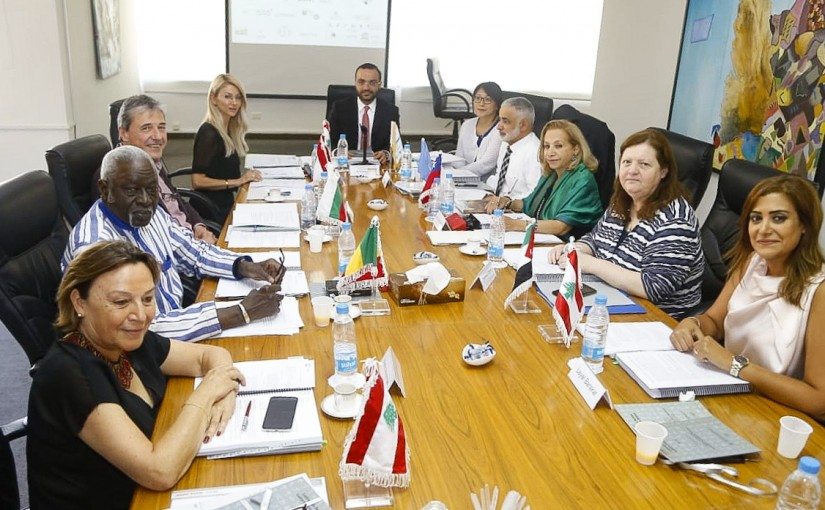 Minister Mouhamad Daoud Daoud meets a Delegation from World Center of Culture at Jbeil