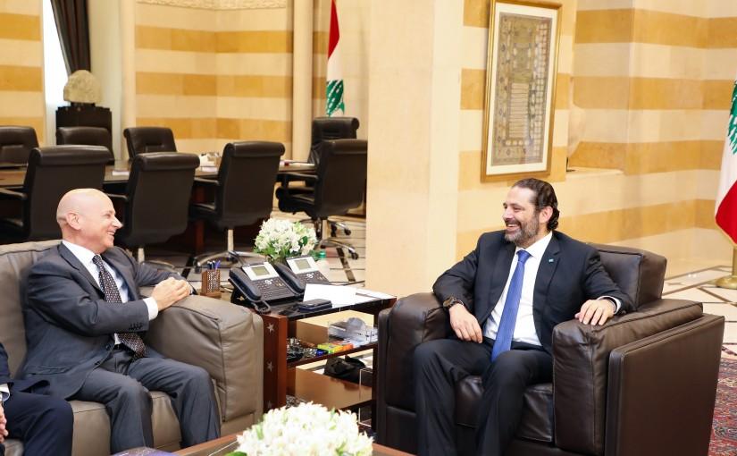Pr Minister Saad Hariri meets Italian Ambassador