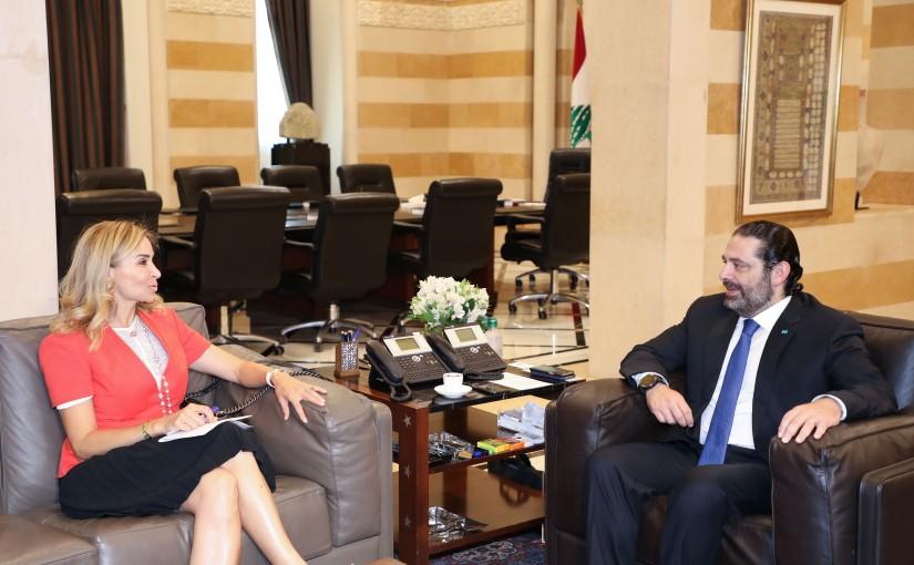 Pr Minister Saad Hariri meets Swiss Ambassador