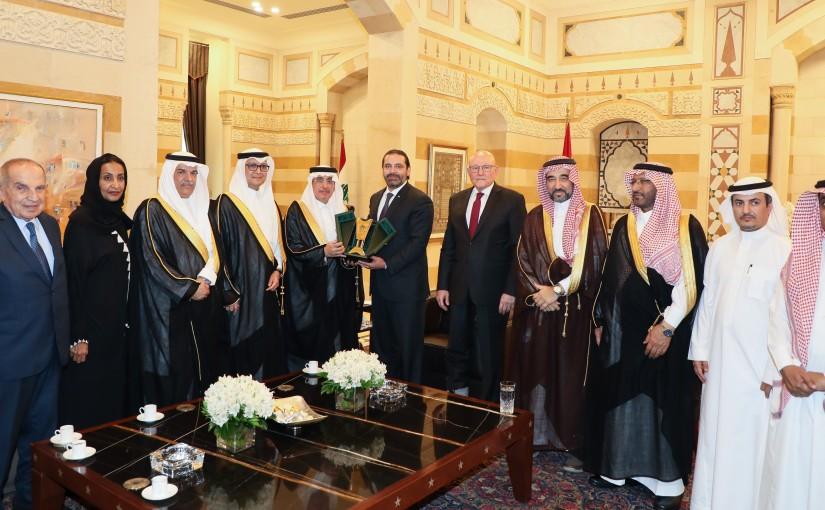 Pr Minister Saad Hariri meets a Saudi Delegation