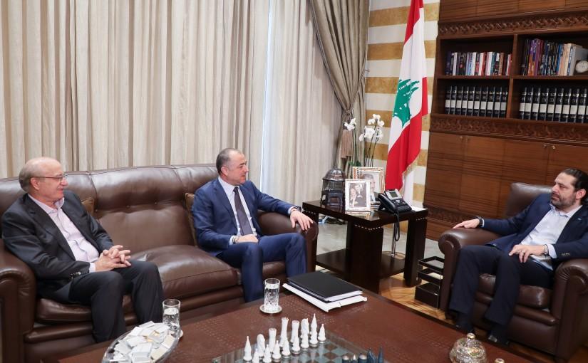 Pr Minister Saad Hariri meets Minister Elias Abi Saab