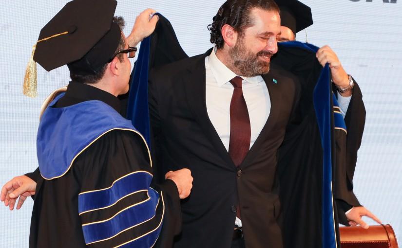 Kaslik University Honoring Doctorate Degrees for Pr Minister Saad Hariri